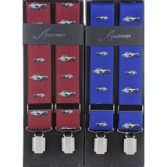 Aston Martin Braces in Wine or Indigo