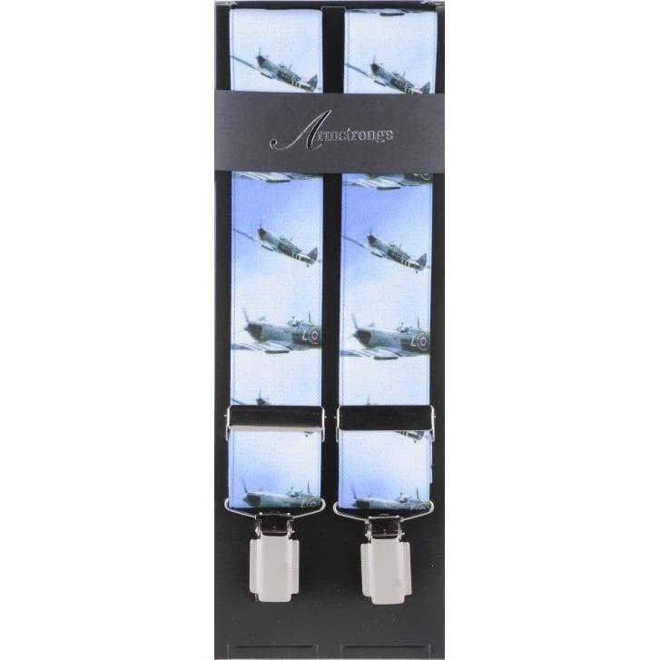 TAGGS Blue Stretch Braces with WW2 Planes