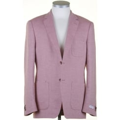 Tailored Buggy Lined Linen Mix Pink Jacket in a Zignone Cloth
