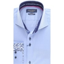Tailored fit Self Pattern Shirt wilth Cutaway collar
