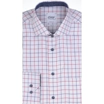 Tailored Two Fold Cotton Twill Check Shirt