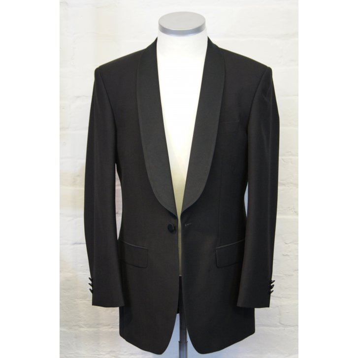 TORRE Black Classic Fit Shawl Collar Dinner Jacket