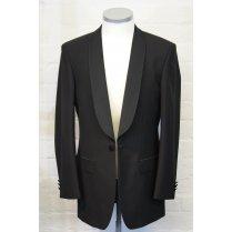 Black Classic Fit Shawl Collar Dinner Jacket