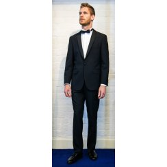 Black Dinner Suit Trousers in a Slim Fit with Satin Side Seam