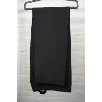 Black Side Adjusted Plain Front Poly/Wool Dinner Suit Trousers