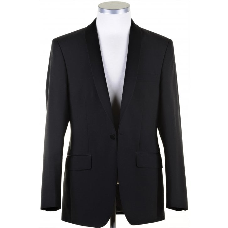 TORRE Tailored Fit Shawl Lapel Single Breasted Dinner Jacket