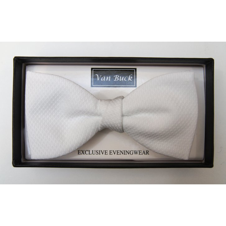 VAN BUCK White Marcella Bow Tie