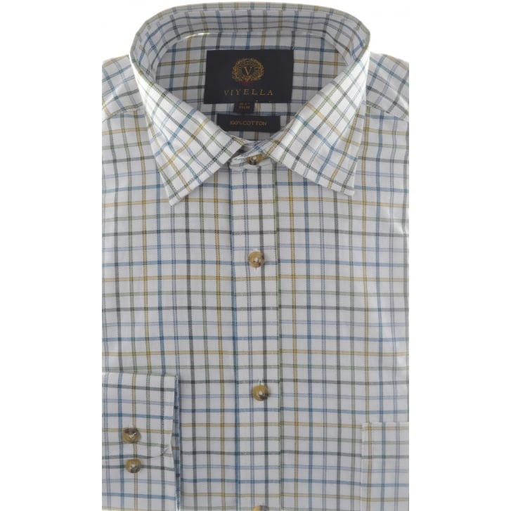 VIYELLA Brushed Cotton Tattersall Check Shirt