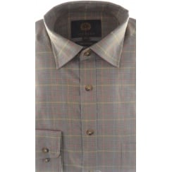 Green Brushed Cotton Melange Shirt