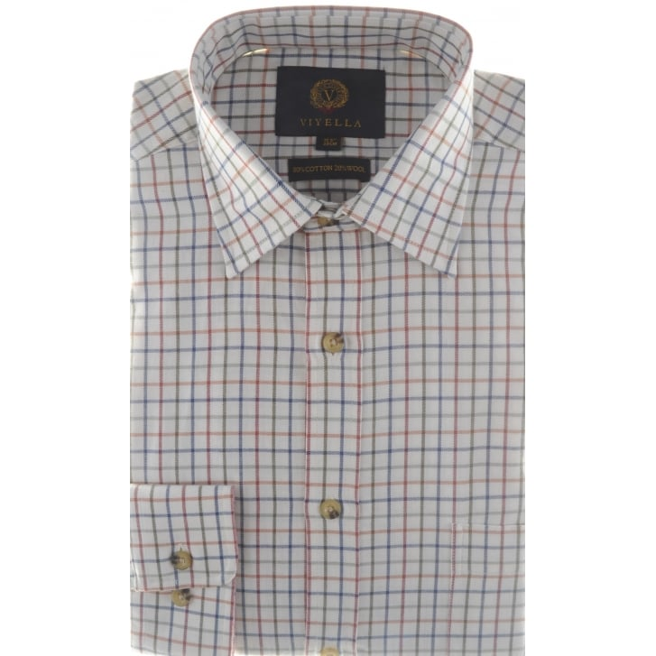 VIYELLA Wool and Cotton Mini Tattersall Check Shirt