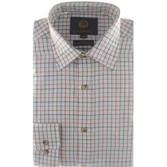 Wool and Cotton Mini Tattersall Check Shirt