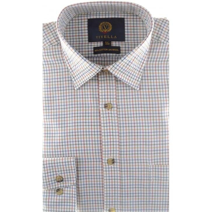 VIYELLA Wool and Cotton Mini Tattersall Check Shirt