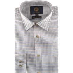 Wool and Cotton Mini Tattersall Check Shirt