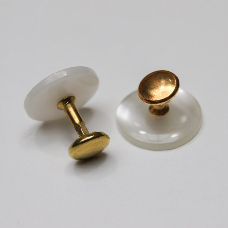 WESSEX Pair Of Collar Studs For Neck Banded Tunic Shirts