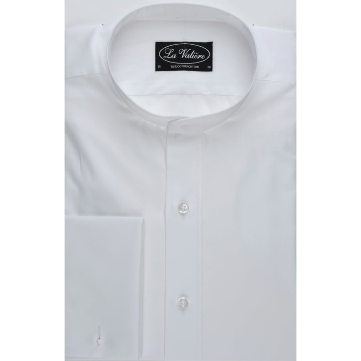 WESSEX White Cotton Tunic Shirt with Double Cuff