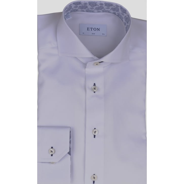 ETON White Slim Fit Cotton Shirt
