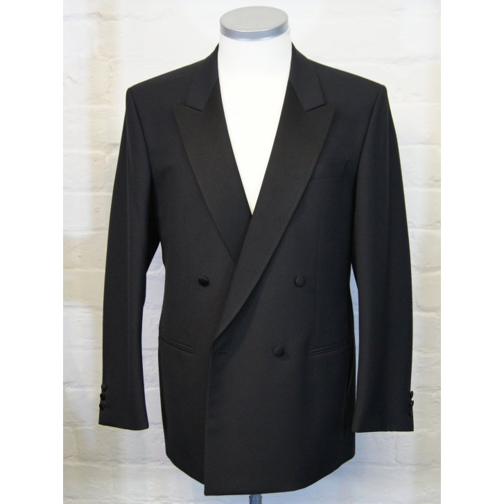 WILVORST Classic Fitting Double Breasted Dinner Suit with Satin Lapels and Pleated Trousers
