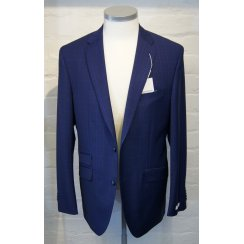 Blue Check Single Breasted Two Piece Suit in a Reda Cloth