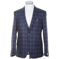 Blue Tailored Prince of Wales Check Jacket
