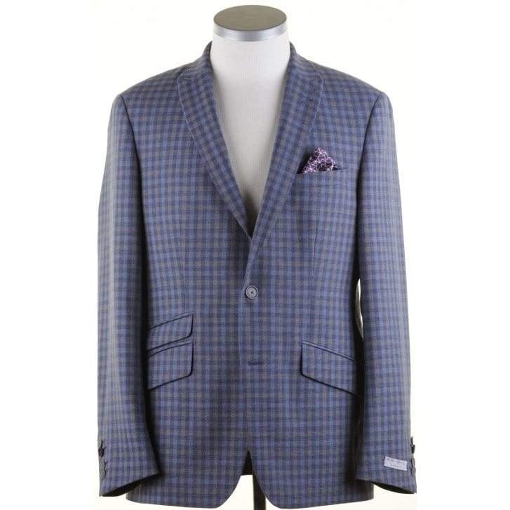 WITHOUT PREJUDICE Light Weight Buggy Lined Tailored Check Jacket
