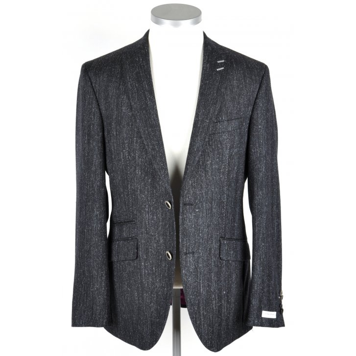 WITHOUT PREJUDICE Mens Dark Navy Flecked Tailored Jacket