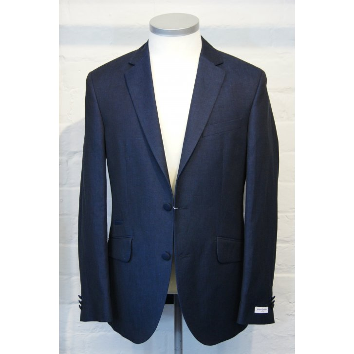 WITHOUT PREJUDICE Mens Linen and Cotton Single Breasted Tailored Jacket