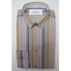 Mens Tailored Multi Stripe Single Cuff Cotton Shirt