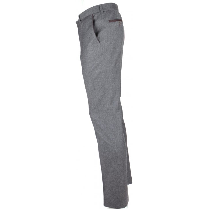 WITHOUT PREJUDICE Mens Wool and Cashmere Flannel Trousers