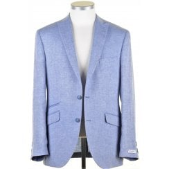 Pure Linen Herringbone Single Breasted Tailored Jacket