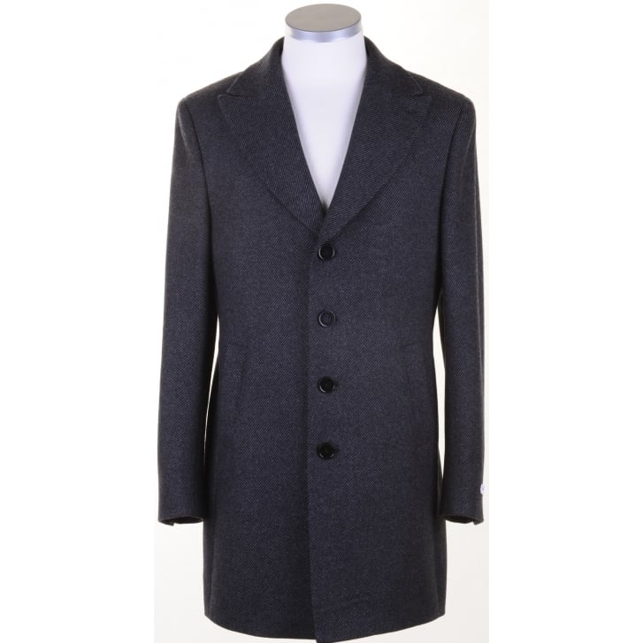 WITHOUT PREJUDICE Tailored Charcoal Grey Overcoat