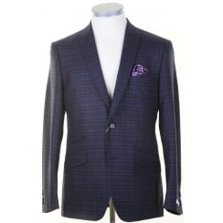 Tailored Purple Check Wool Jacket
