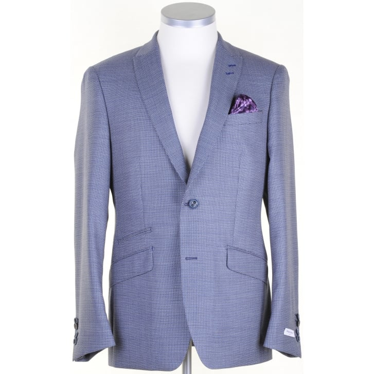 WITHOUT PREJUDICE Tailored Wool Patterned Jacket in a Reda Cloth
