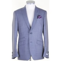 Tailored Wool Patterned Jacket in a Reda Cloth
