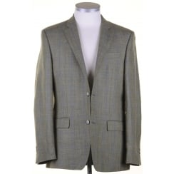 Wool, Silk, and Linen Reid & Taylor Cloth Green Summer Jacket